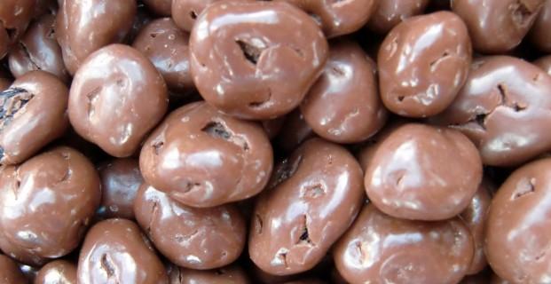 Rozijnen melk chocolade